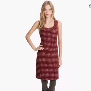 Tory Burch Victory Tweed Dress Sz 2 Plum Boucle